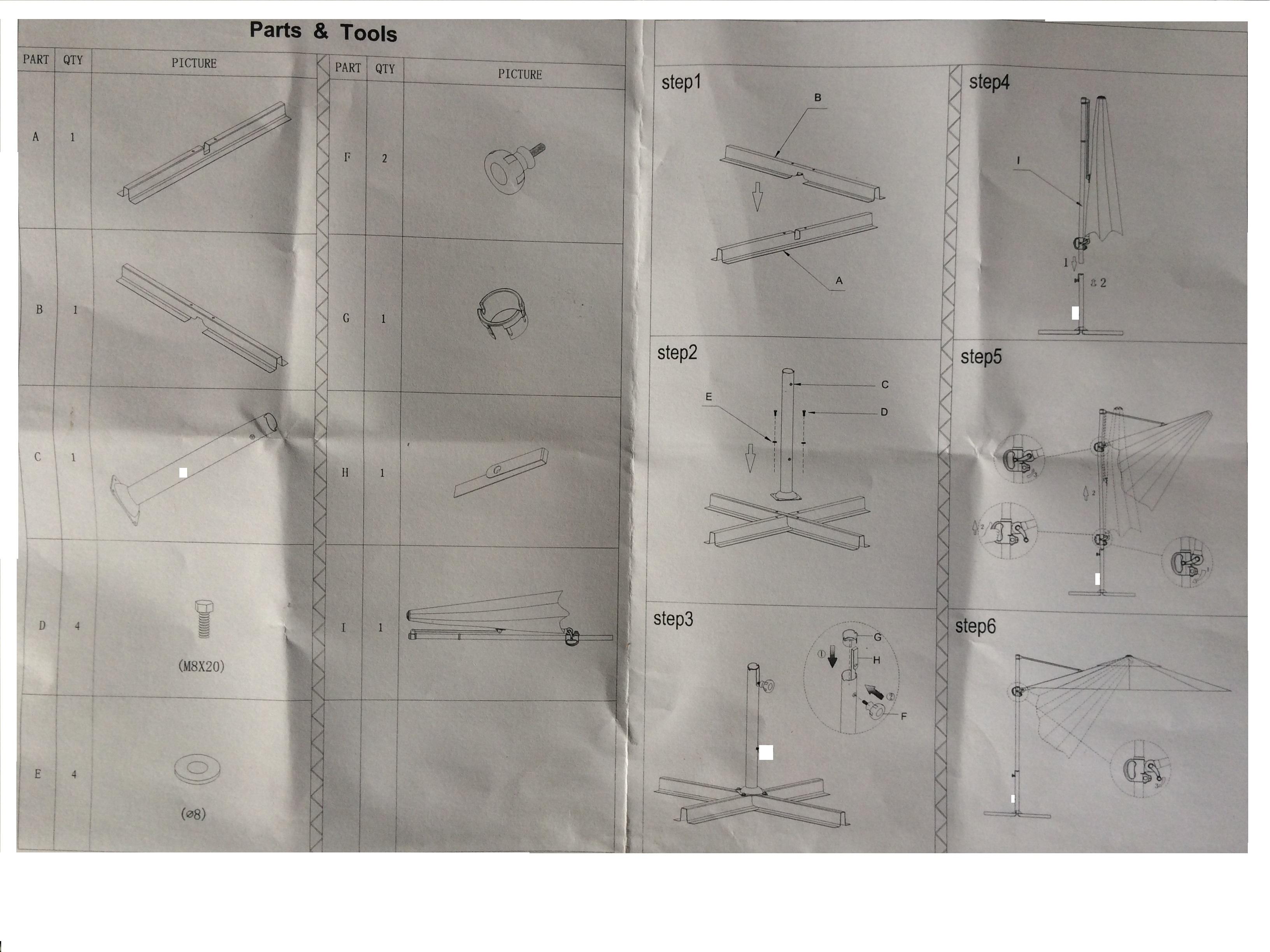 Parasol jardin d port alu sun 3 carr 2 5 x 2 5 m - Notice de montage banc de musculation domyos hg050 ...